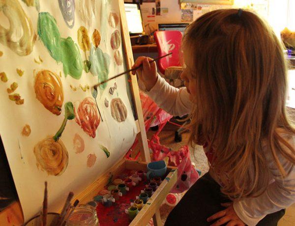 Create a digital art portfolio for your child